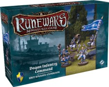 RuneWars: The Miniatures Game - Daqan Infantry Command Unit Upgrade Expansion