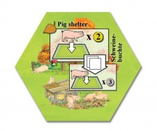 Keyflower: Pig shelter promo tile