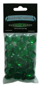 Dragon Shield - Transparent Gaming Counters - Emerald Green
