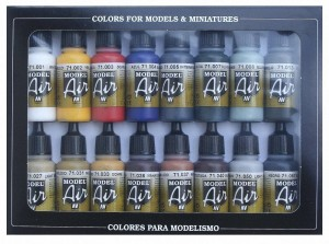 Vallejo 71178 Model Air - Basic Colors Set (16 farb)