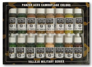Vallejo 70179 Model Color - Camouflage Panzer Ace Set (16 farb)